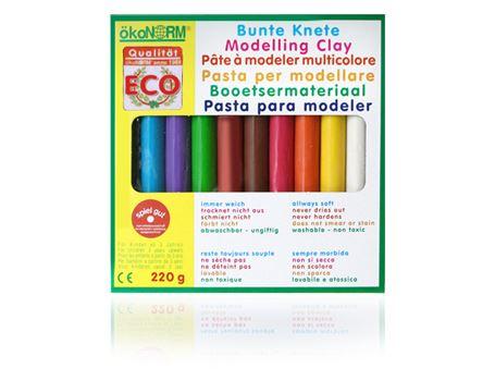 Boetseerklei kleuren staafjes 10st. plasticvrij