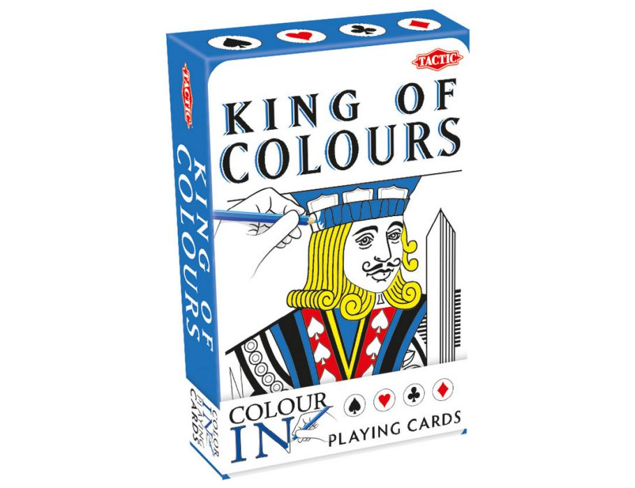 Speelkaart kleurplaten - Blauw