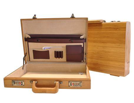 Koffer Bamboe Caramel