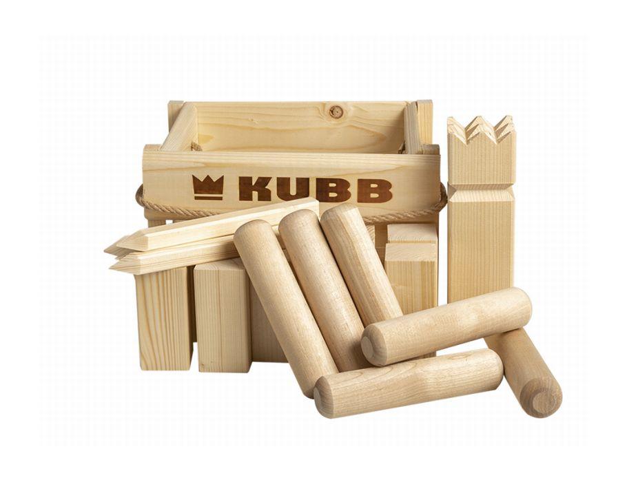 Kubb spel - houten krat - compact