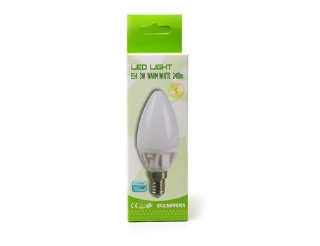 Eco ledlamp - kleine fitting - dimbaar - 240 lumen - candle