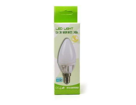 Ledlamp - candle- 3w - E14 - 2700k - 240 lumen