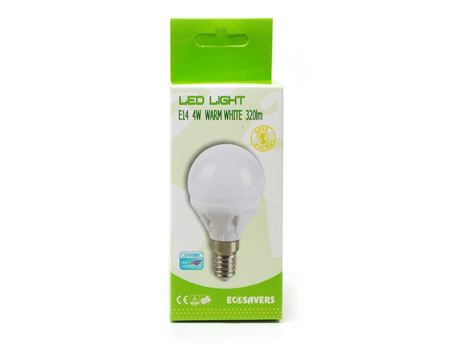 Eco ledlamp - kleine fitting - 320 lumen - miniglobe