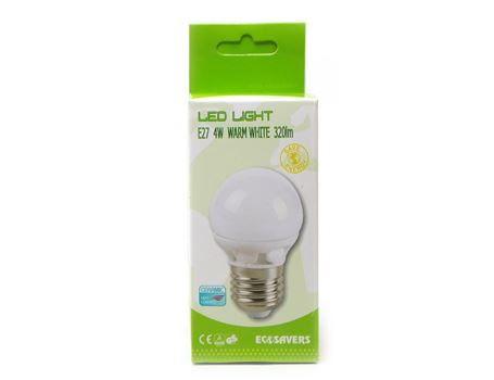Eco ledlamp - grote fitting - 400 lumen - miniglobe
