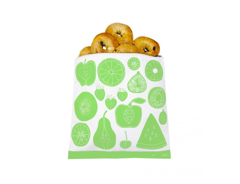 Lunchskin gallon zip bag - fruitig groen
