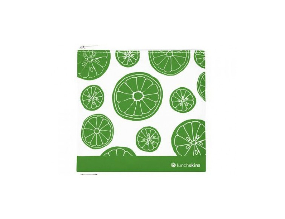 Lunchskin medium zip bag - fruitig groen
