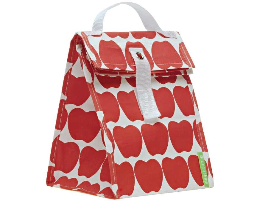 Lunchskin tote bag - rode appeltjes