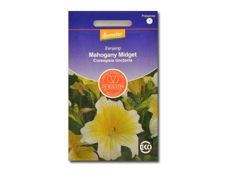 Biologische bloemen Mahogany Midget