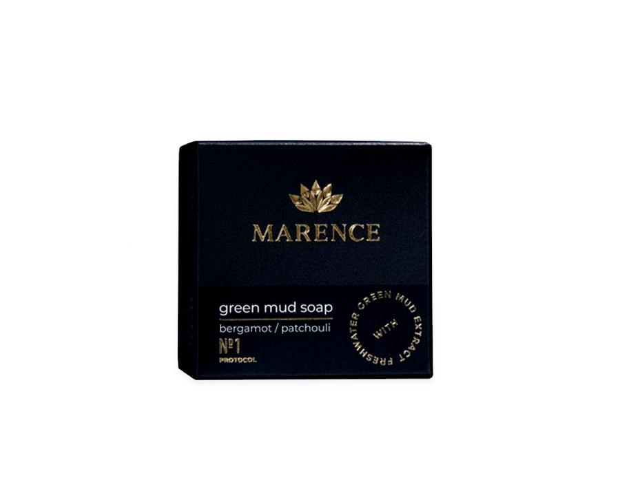 Green Mud Soap - Bergamot Patchouli - 2 x 65 gram