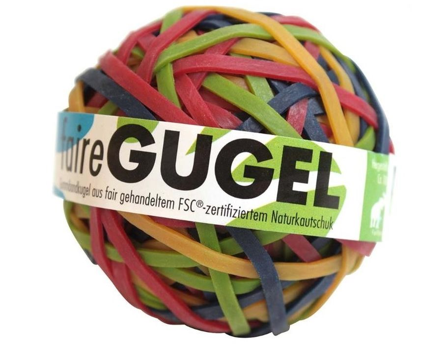 Rubberen bal van elastiek