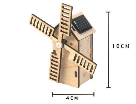 Bouwpakket – Hollandse molen met zonnepaneel - mini