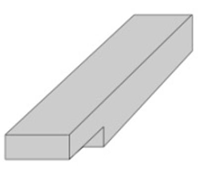 Bamboo X-treme - onderbalk density - onb. - 2440x60x40