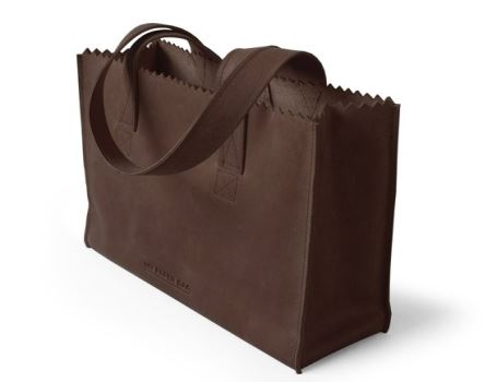 My Paper Bag Handbag met rits Dark Chocolate