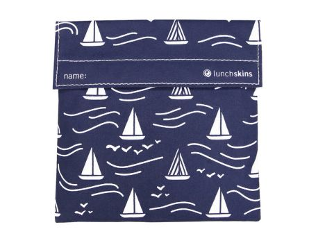 Lunchskin sandwich bag - Navy Boat