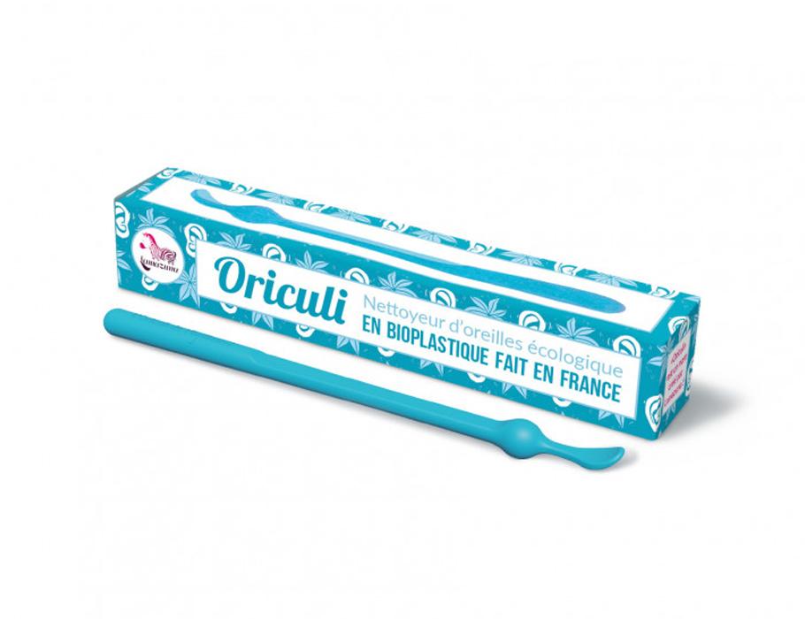 Oriculi oorstokje - bioplastic - blauw