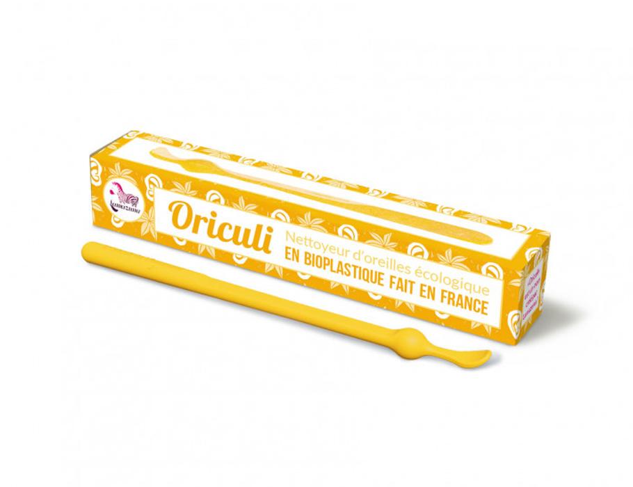 Oriculi oorstokje - bioplastic - geel
