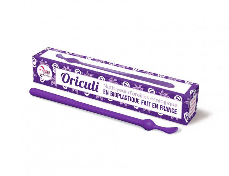Oriculi oorstokje - bioplastic - paars
