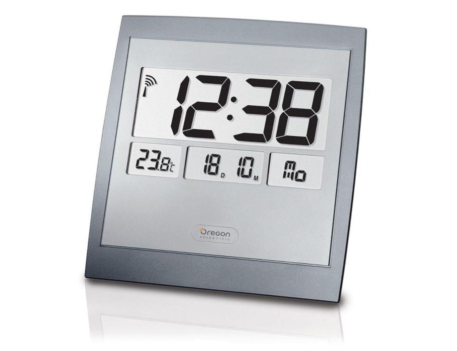 Radio gestuurde Wandklok met thermometer