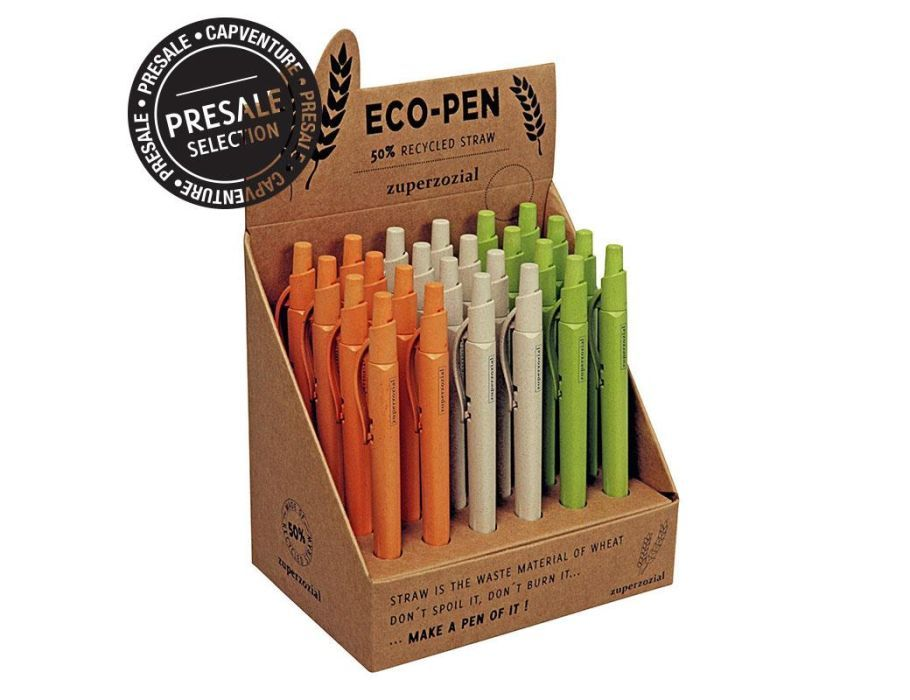 Pen van gerecycled materiaal - display