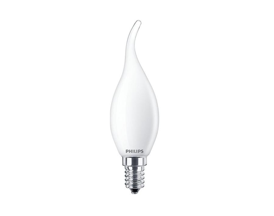 Led-Lampe Kerze - mit Kringel - E14 - 250 lm -matt