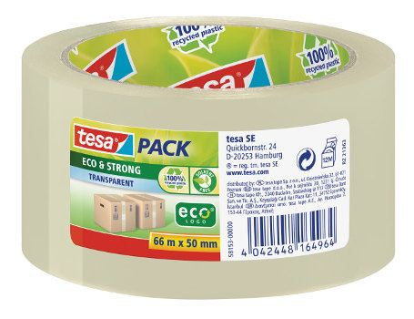 Eco - Strong transparant tape 66m x 50mm