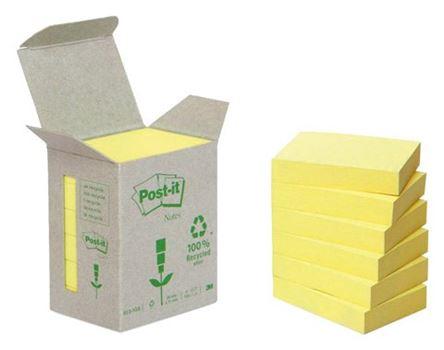 Memoblokjes - 38x51 - 6st - geel