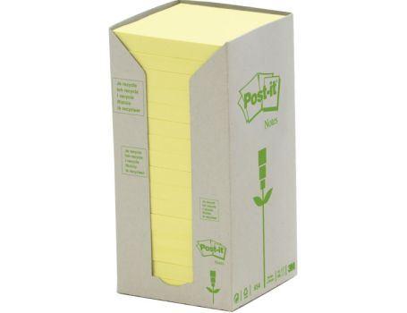 Memoblokjes - 76x76 - 16st - geel