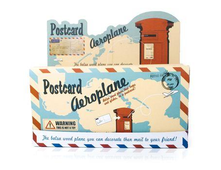 Display 24 stuks Post Card Vliegtuig