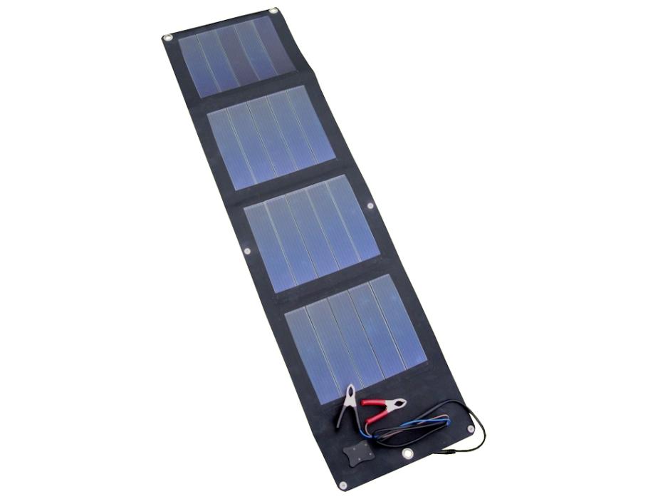 Flexibel zonnepaneel met klemkabel
