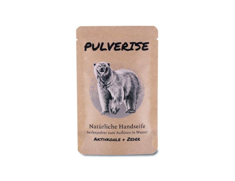 Handseife - Pulver - Aktivkohle & Zeder