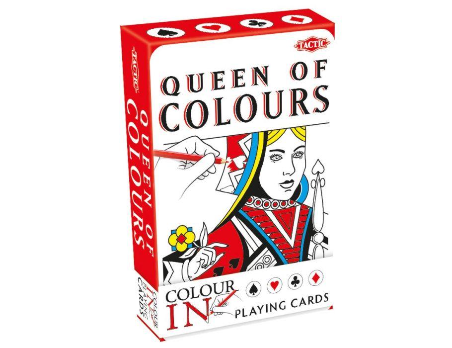 Speelkaart kleurplaten - Rood