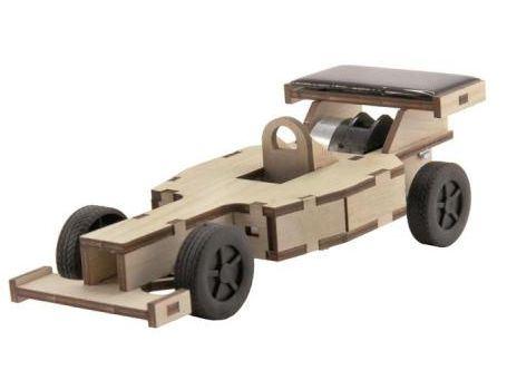 Bouwpakket - Racewagen met zonnepaneel - klein
