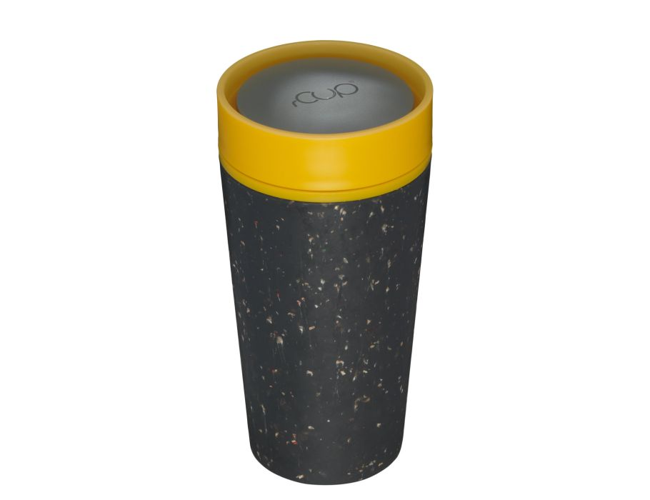 rCUP 350 ml - Black and Mustard