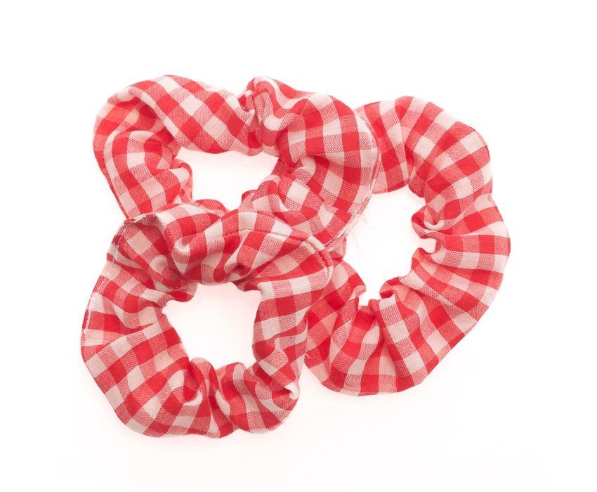 Plasticvrije Scrunchies - set van 3 - Rood