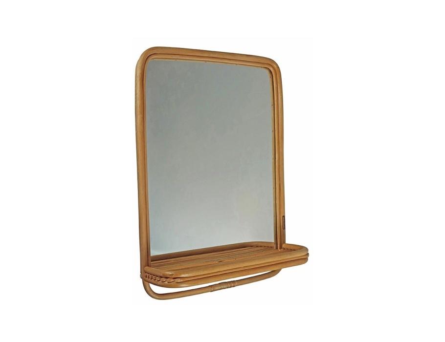 Rotan Spiegel - L 60 x W 45 x H 13cm