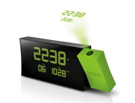 Radioklok met projectie en temp. groen