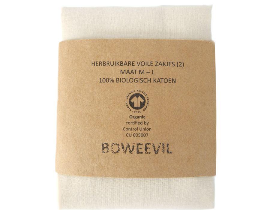 Voile-Sandwich-Taschen - 2 Stück: Größe M + L