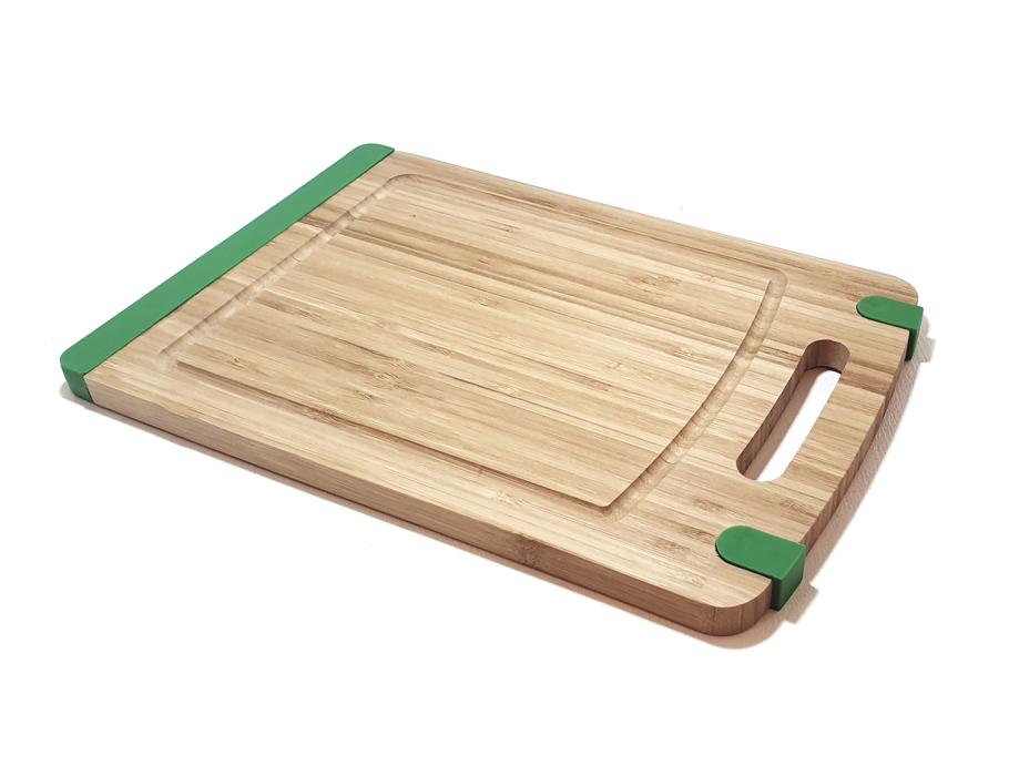 Bamboe snijplank met antislip - Groen