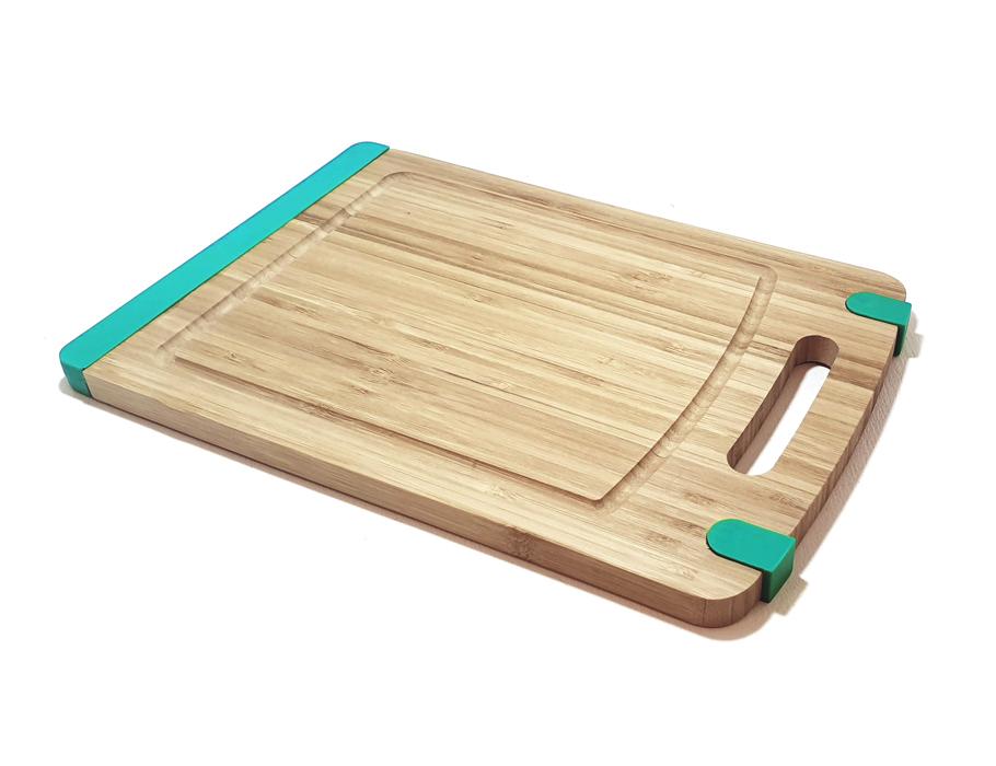 Bamboe snijplank met antislip - Mint