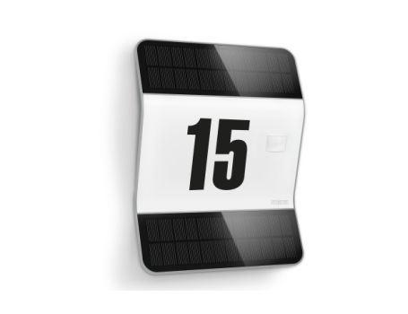 Buitenlamp solar nummerbord Zilver