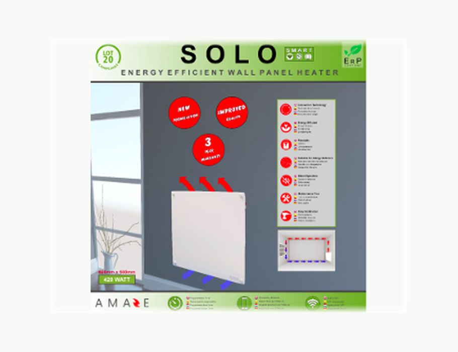 Amaze elektrisch verwarmingspaneel Solo Smart 420W