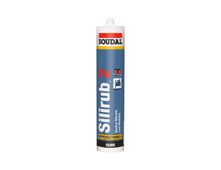 Silirub 2 - Siliconenkit - Transparant/Grijs - 300 ml