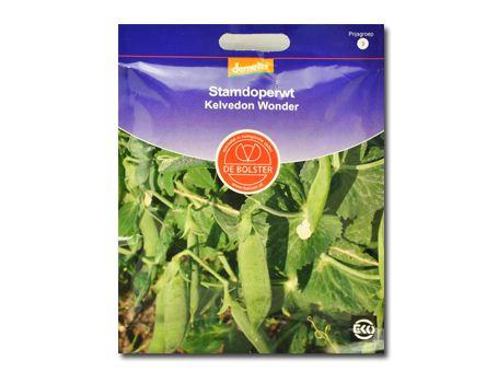 Biologische groenten Doperwt stam