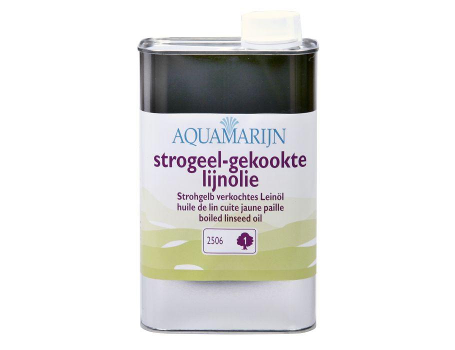Strogeel-gekookte lijnolie 0,5L