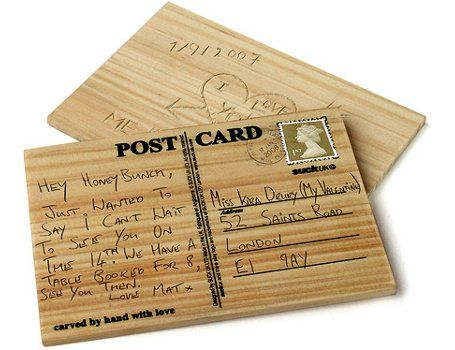 Houten briefkaart