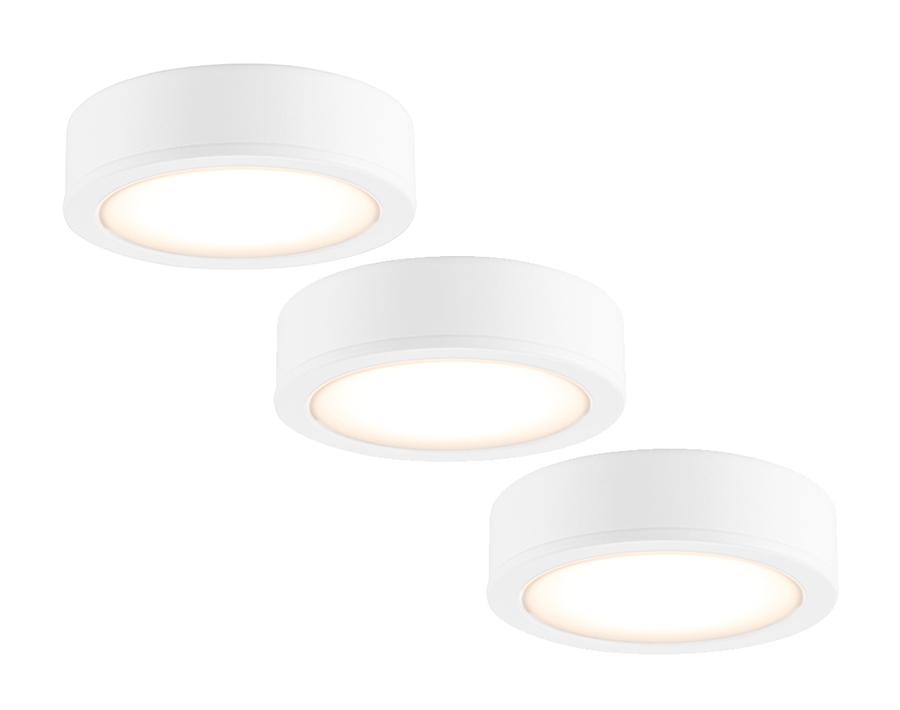 Küchenstrahler LED - 3er-Set - 270 lm - IP20 - weiß