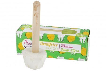 Tandpasta op een stokje - citroen salie