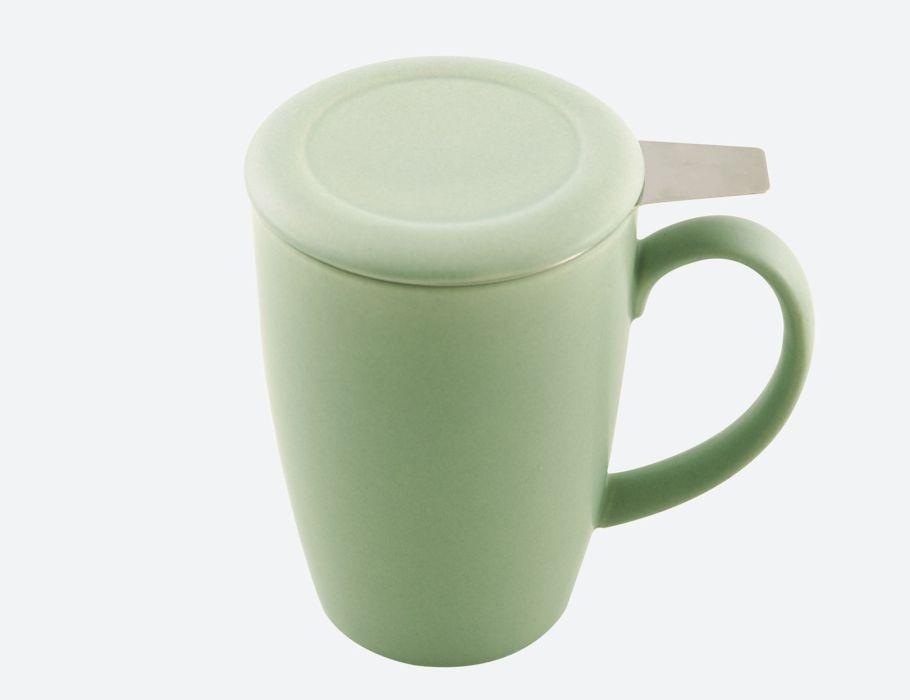 Teetasse mit infuser und deckel 400ml