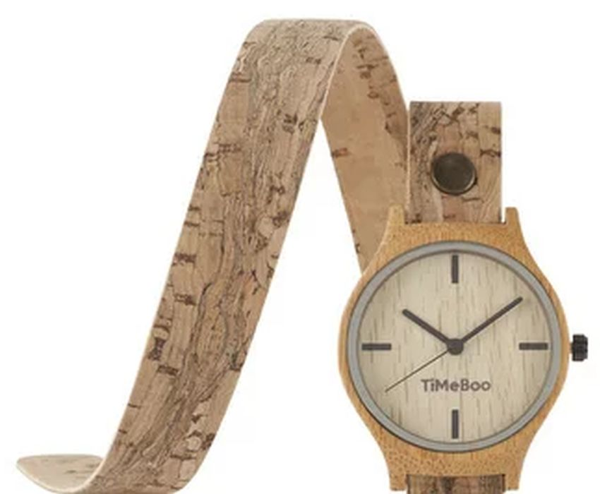Horloge Vegan Double Naturel