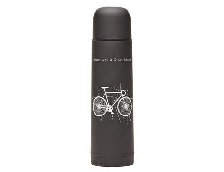 Thermosfles met beker zwart - fiets - 500ml